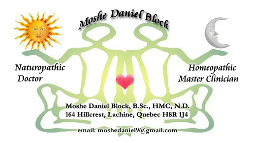 The Naturopathy and Homeopathy Alternative Medicine Practice of Moshe Daniel Block, HMC, N.D. is located in Montreal, Quebec